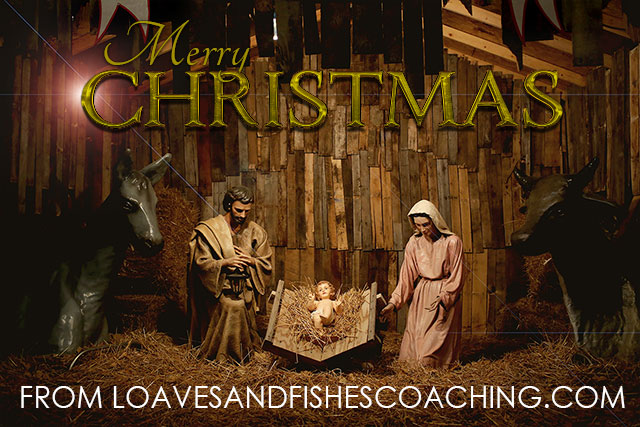 Merry Christmas with Jesus, Mary, and Joseph