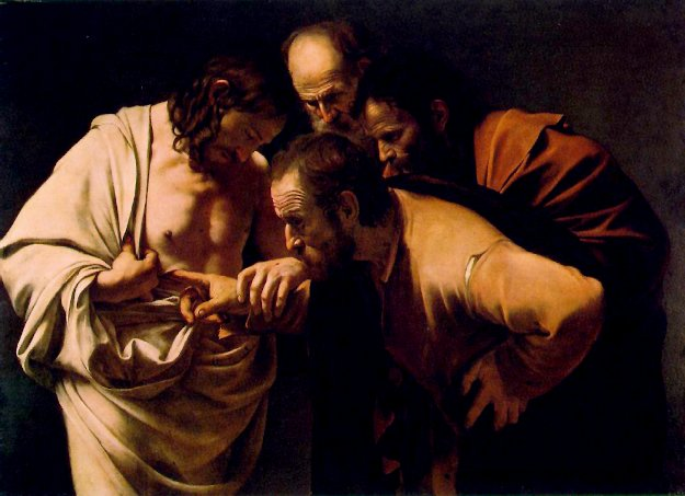 The Incredulity of Saint Thomas' by Caravaggio.
