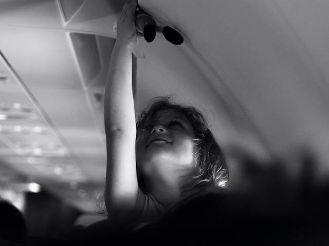 Little Girl in Airplane