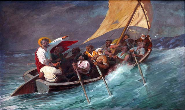 Jesus and the Disciples in a Storm